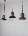 Set of 3 American 1930s hanging lights - Main