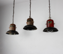 Set of 3 American 1930s hanging lights - picture 4