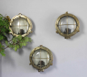 Set of 3 Brass bulkhead lights for outside use - picture 2