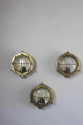Set of 3 Brass bulkhead lights for outside use - picture 4