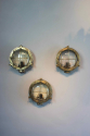 Set of 3 Brass bulkhead lights for outside use - picture 5