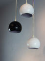 Set of 3 hanging lights in white and black - picture 3