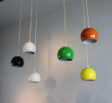 Set of 3 hanging lights in white and black - picture 4