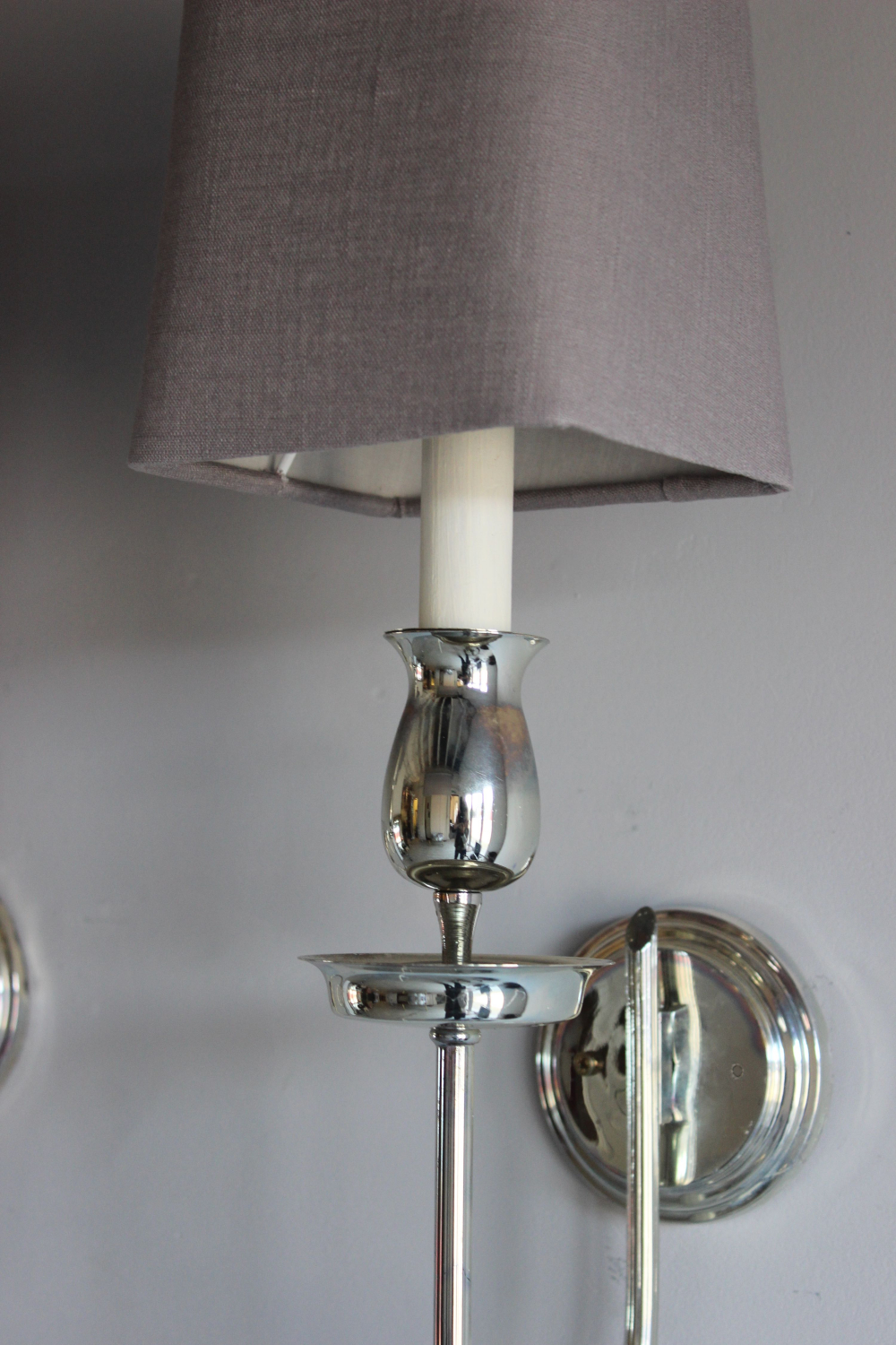 Wall Sconces Antique Silver : Set of 3 silver plated wall sconces