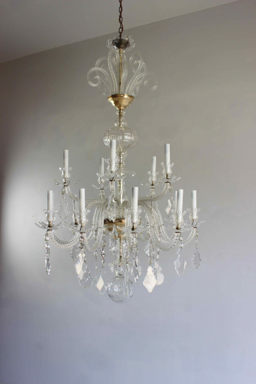 Simple beautiful glass armed antique chandelier
