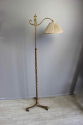 Spanish gilt metal  adjustable height floor lamp - picture 2
